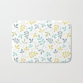 Assorted Leaf Silhouettes Pattern Color Mix Bath Mat