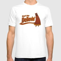 Don't Stop Believin' Mens Fitted Tee SMALL White