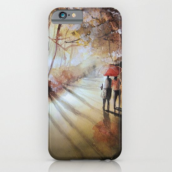 Break in the clouds - watercolor iPhone & iPod Case