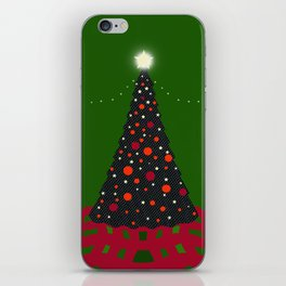 Christmas Tree with Glowing Star iPhone Skin
