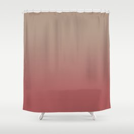 Ombre Warm Taupe and Dusty Cedar Shower Curtain