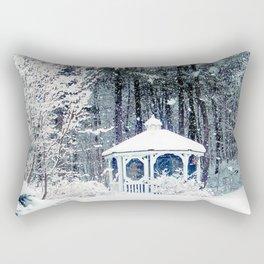 Snowy Gazebo Rectangular Pillow