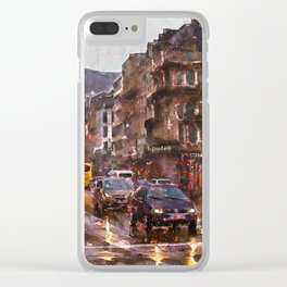 Rainy Day Traffic Clear iPhone Case