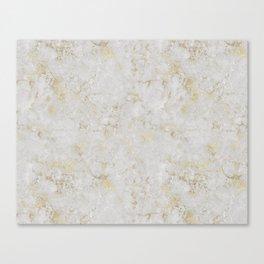 Raw Marble Gold Mine Canvas Print