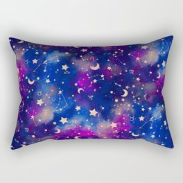 Zodiac - Watercolor Dark Rectangular Pillow
