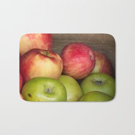 Assorted Red and Green Apples Bath Mat