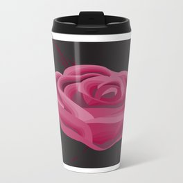Pink Hue Single Rose Metal Travel Mug