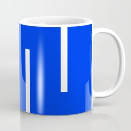 Abstract Minimal Retro Stripes Blue Coffee Mug