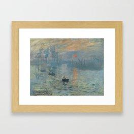 Impression, Sunrise, Claude Monet, 1872 Framed Art Print
