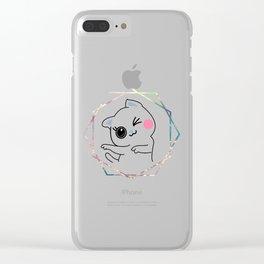 Crazy-cat Clear iPhone Case
