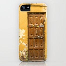 Yellow Door #47 Malaga iPhone Case