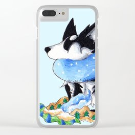 Wrapping Paper Pup Clear iPhone Case