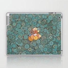 buttons fantasy blue lake Laptop & iPad Skin