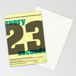 Every 23 seconds Stationery Cards