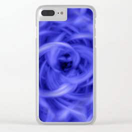 Background Flames Blue Clear iPhone Case