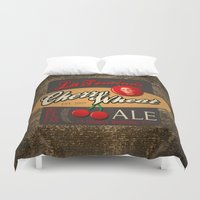 ale giorgini Duvet Covers featuring Cherry Wheat Ale by La Femina Brewing Co.