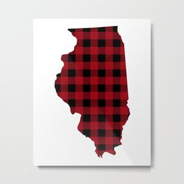 Illinois - Buffalo Plaid Metal Print