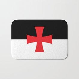 Knights Templar Flag - High Quality Bath Mat