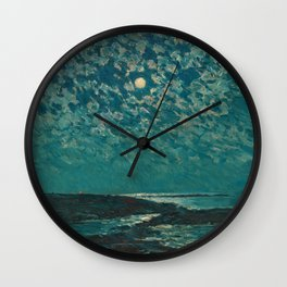 Classical Masterpiece 'Isle of Shoals' Rhode Island by Frederick Childe Hassam Wall Clock