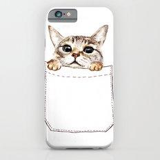 Pocket cat iPhone 6 Slim Case