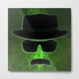 Walter White Silhouette 2 Metal Print