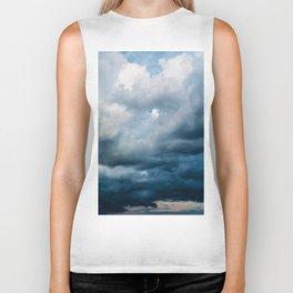 Rain Storm Clouds Gathering On Sky, Stormy Sky, Infinity Biker Tank