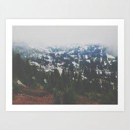 Mount Rainier in July Art Print