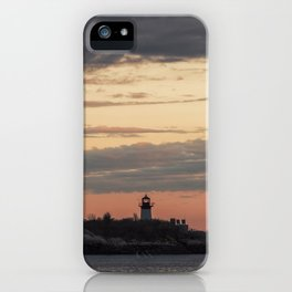 Painted sky over ten pound island light iPhone Case