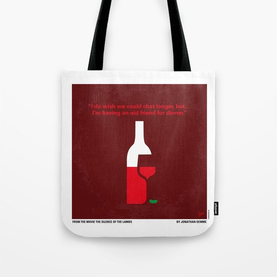 No078 My Silence of the lamb minimal movie poster Tote Bag