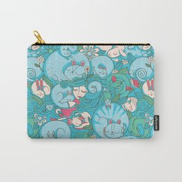 Sleepy Animal Forest Carry-All Pouch