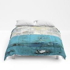 Fairbanks Abstract Light Blue White Comforters