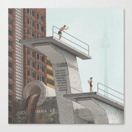 badeanstalt Canvas Print