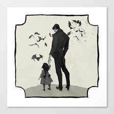 Father Daughter Time Canvas Print