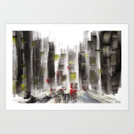 City Sketch Art Print