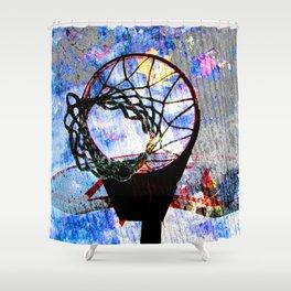 Basketball art spotlight vs 7 Shower Curtain