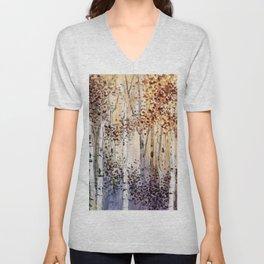 4 season watercolor collection - autumn Unisex V-Neck