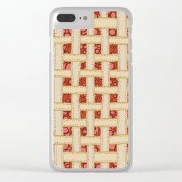 Cherry Pie Clear iPhone Case