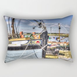 Thames Sailing Barges. Rectangular Pillow