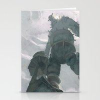 shadow of the colossus Stationery Cards featuring Shadow (Large Format) by Chad Gowey