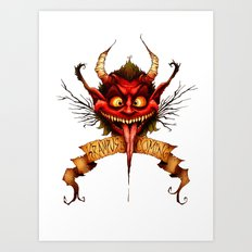 Krampus is Coming Art Print