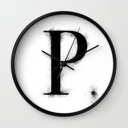P. - Distressed Initial Wall Clock
