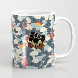 Pirates on stormy seas Coffee Mug