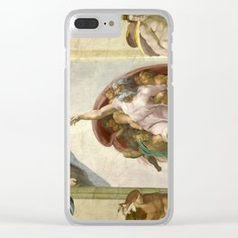 "Michelangelo ""Creation of Adam"" Clear iPhone Case"