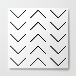 Minimal Arrows Metal Print