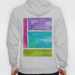 180811 Watercolor Block Swatches 8| Colorful Abstract |Geometrical Art Hoody