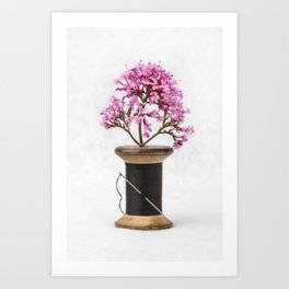 Wooden Vase Art Print
