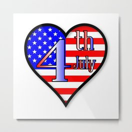Love Independence Day Metal Print