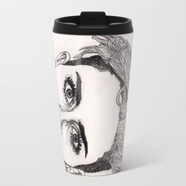 Miley with Red Lips Travel Mug