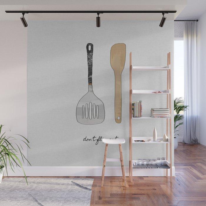 don't flip out, kitchen wall art wall muralpaperpixelprints