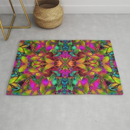 Fractal Floral Abstract G285 Rug